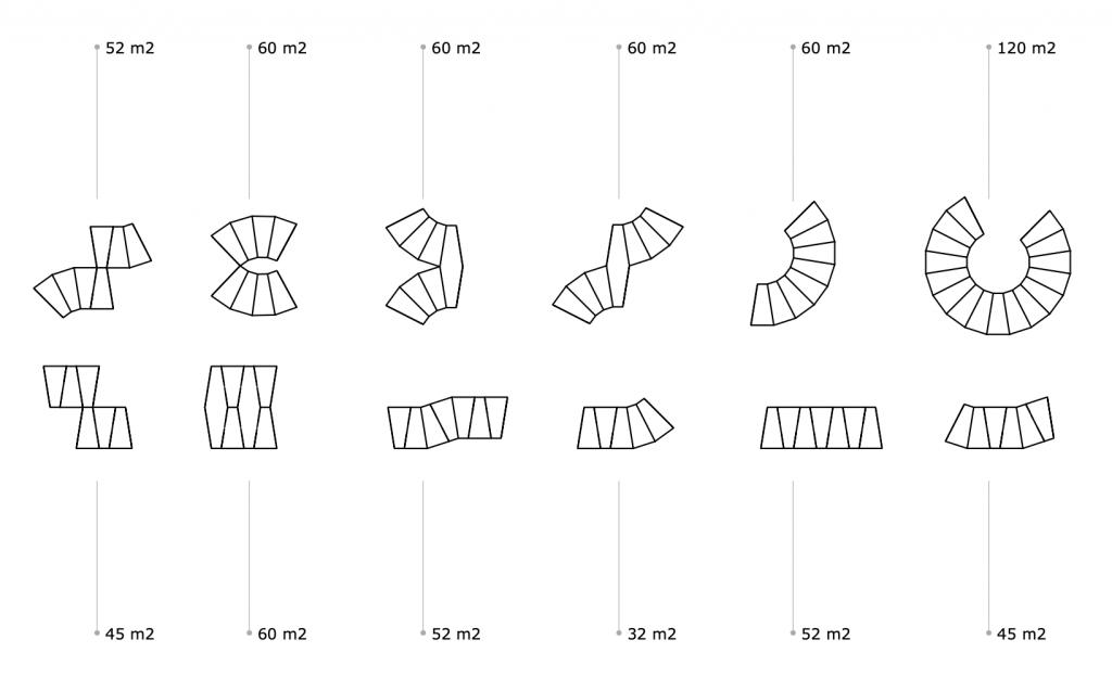 oppervlaktes tiny modules